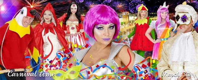 Mega Karneval / Fasching Paket bestehend aus mindestens 100 Einzelteilen