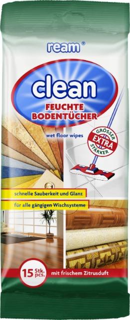 12-11064, ReAm Clean Extra grosse Bodenreinigungstücher 15er Pack, mit frischem Zitrusduft