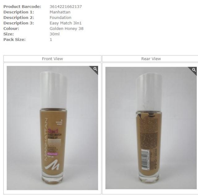 Manhattan Foundation Easy Match 3 in 1 Golden Honey 38, 30 ml