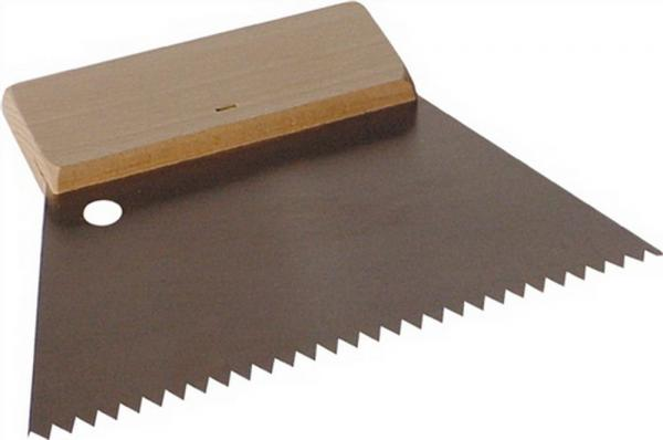 Kittauftragespachtel fein B.180mm mit Holzgriff