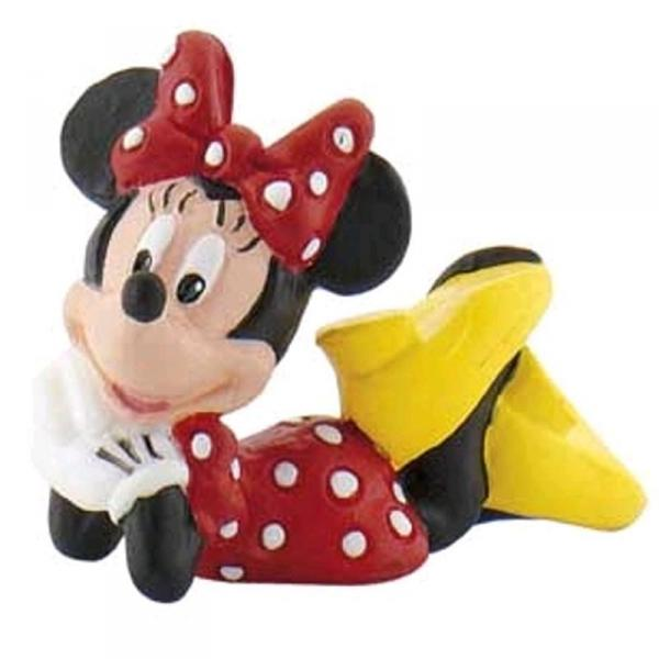 DISNEY Bullyland Minnie Mouse liegend - ca 4,5cm