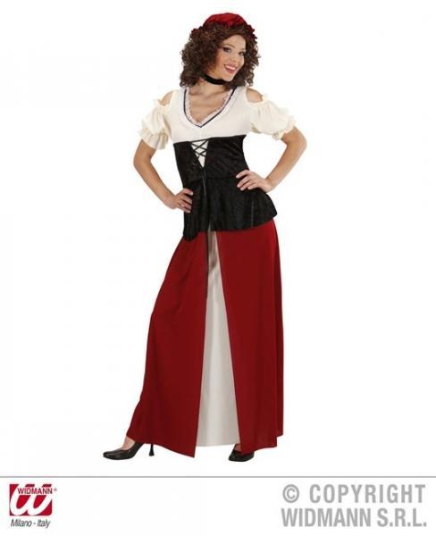 GASTWIRTIN (Kleid, Korsett, Halskette, Kopfbedeckung)