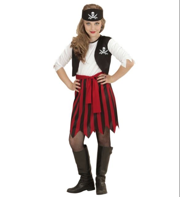 Pirat Piraten Seeräuber Piratin Kinder Kostüm Fasching Karneval