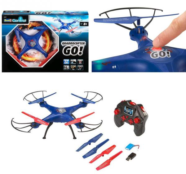 REVELL 23877 RC Quadrocopter, Flip Funktion 2,4 GHZ ca 31cm