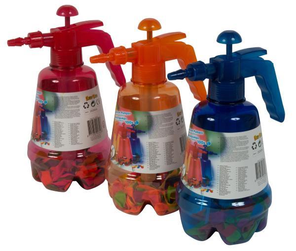 Wasserbomben 100 Stück in Pumpbehälter - ca 28cm