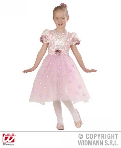 BALLERINA (Kleid mit leuchtendemRock,Haarsoange für rosafarbene Haare)