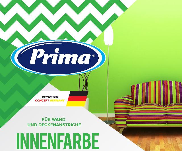 Prima Wand- und Deckenfarbe 10,0 Liter / 15,0 Liter
