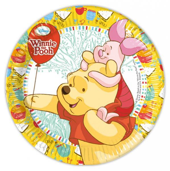 Teller ,Winnie the Pooh, 8 Stück - ca 23 cm