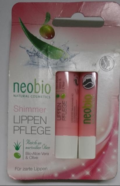 12-62384, Neobio Lippenpflegestifte 2er Set, 2x4,8g Shimmer - SONDERPOSTEN