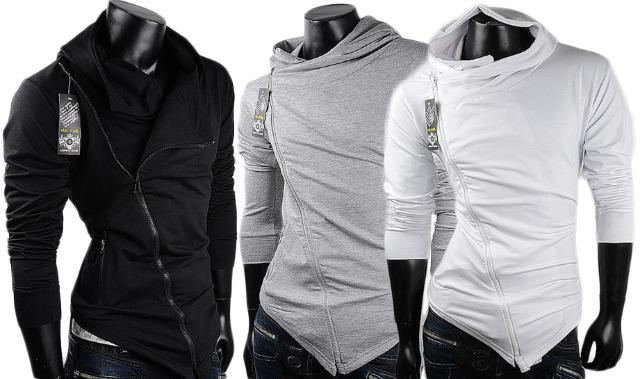 Herren Trend Sweatjacke Hoodie Kapuzenpullover Hoody Sweatshirt Longsleeve Pullover Sweater Pulli Kapuze Langarm - 5,90 Euro