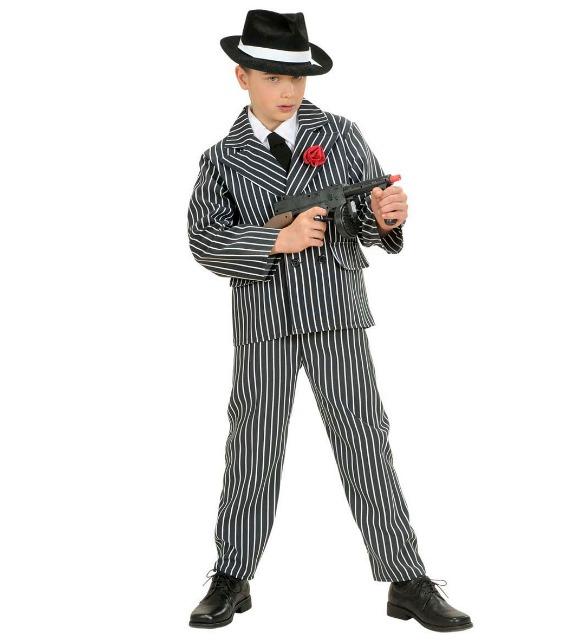 Kinderkostüm Gangster perfekt für Karneval / Fasching inkl Hemd Krawatte Jacke Hose