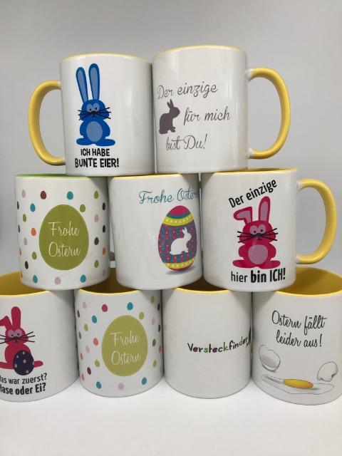 Oster Tassen - Kaffee - verschieden Motive - RESTPOSTEN