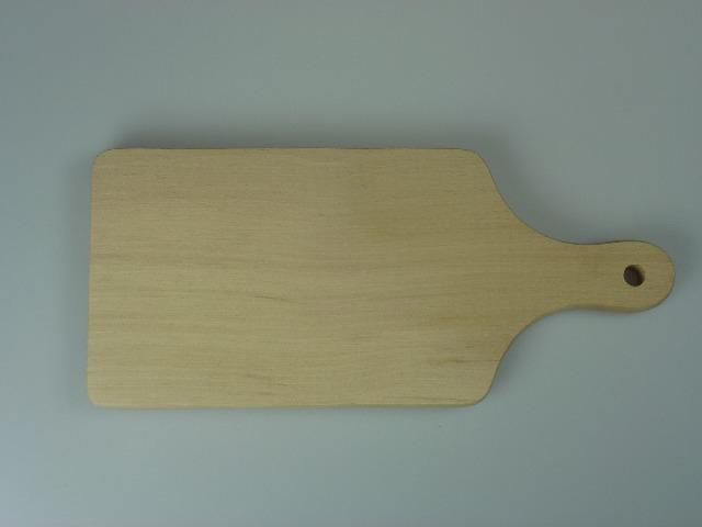 12-001246, stabiles, dickes Holz Schneidbrett, 35 cm, Fleischbrett, Küchenbrett, Schneidebrett, Frühstücksbrettchen, Schinkenbrett