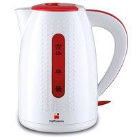 Elektrischer Wasserkocher 1,7 Liter in Weiss/Rot top Markenqualität