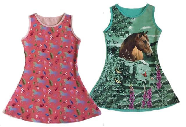 Kinder Mädchen Kleid Pferd Einhorn Longshirt 2-12 Jahre Sweatshirt Oberteil Kindershirt Kurzarm