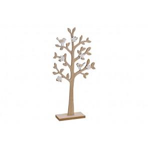 Oster / Frühlings Dekoration Aufsteller Baum aus Holz Natur (B/H/T) 24x49x7cm