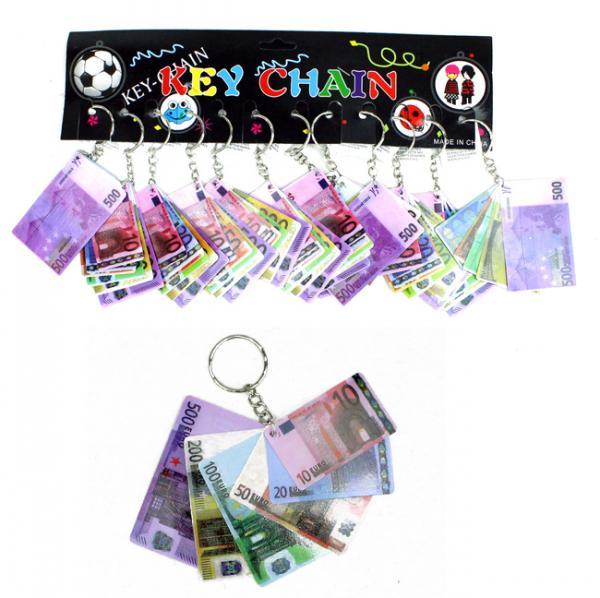 Euro Banknoten Kunststoff an Schlüsselanhänger - ca 6,5cm
