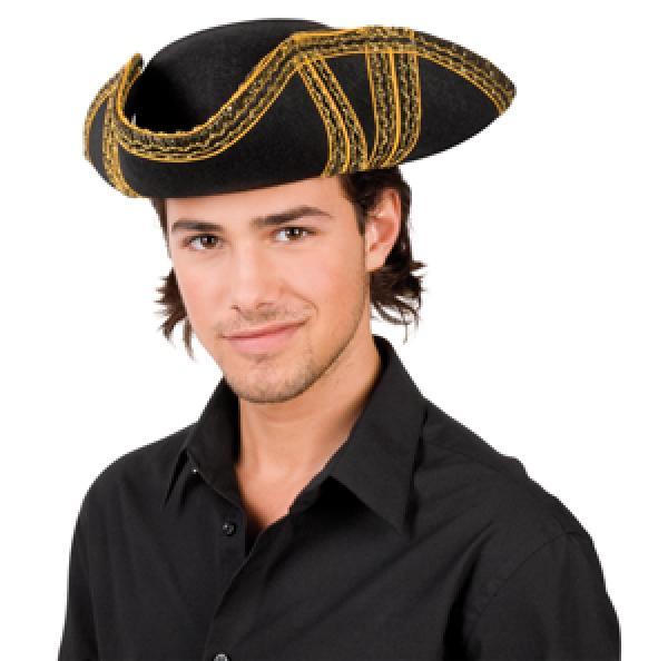 Hut - Dreispitz Filz Piratenhut