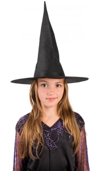 Hut Hexenhut Ursula für Kinder schwarz ca 55 cm