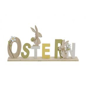 Oster Dekoration Schriftzug Ostern aus Holz, B40 x T6 x H20 cm