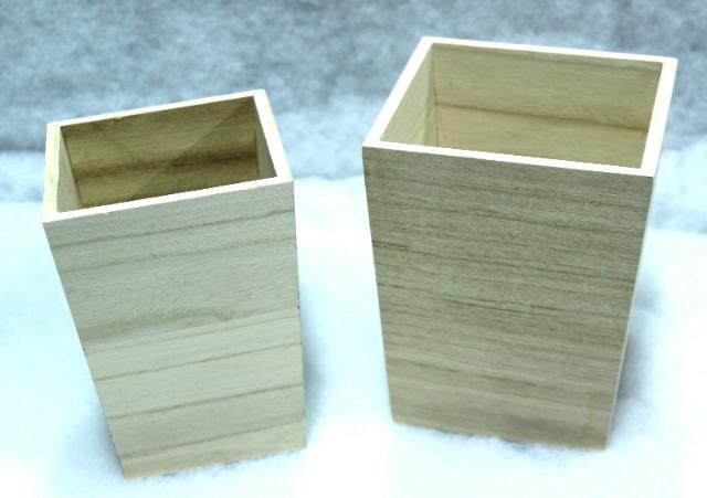 Restposten 713 Sets Holztöpfe Übertöpfe Ø 12 cm & 16 cm