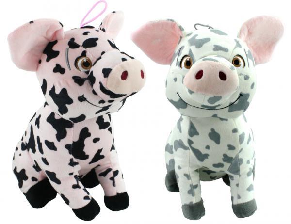 Schwein mit lachendem Gesicht 2-farbig sortiert - ca 30 cm