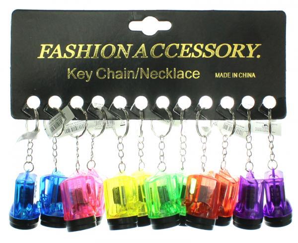 Taschenlampe an Schlüsselanhänger 6 Farben sortiert ca 4 cm