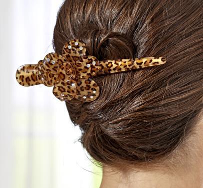 Haarspange im Leopardenlook