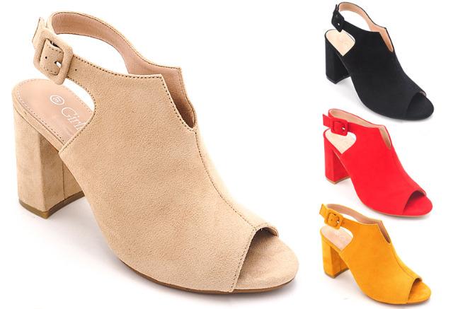 Damen Woman Sommer Trend Sandalette Sandale High Heels Schuh Shoes Sommer Business Freizeit