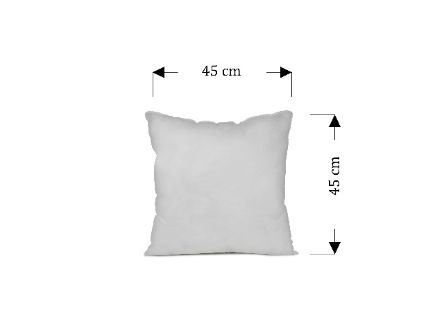 Füllkissen - Bezug aus Polypropylen - fest gewebt und prall gefüllt, ca. 45 x 45 cm