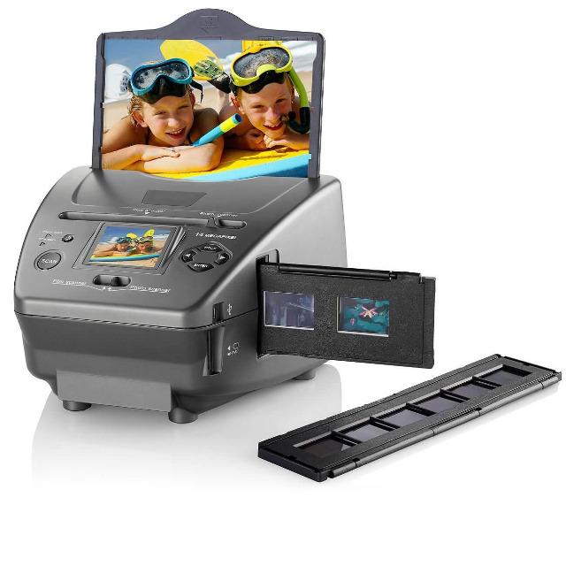 Somikon SD-1400 3in1-Dia Foto und Negativ-Scanner Fotoscanner mit 14-MP-Sensor konvertierer
