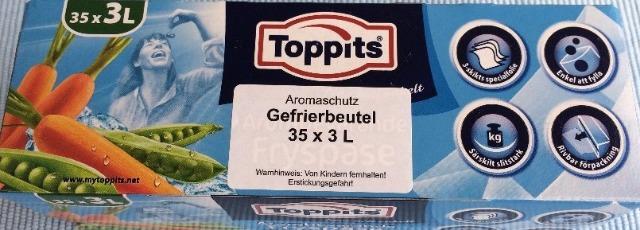 12-207098, TOPPITS  Aromaschutz Gefrierbeutel  3 Liter, 35er Set
