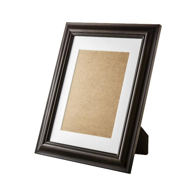 Bilderrahmen aus Holz 45 x 55 cm mit Glasscheibe und Passepartout zum Hinstellen und Aufhängen