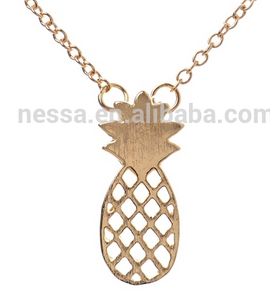 Halskette Ananas - Fashion Dainty Pineapple Necklace Everyday Fruit Pendant Necklaces for Women
