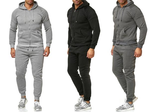 Herren Trend Jogging Anzug Sportanzug Hoody Sweatshirtjacke Trainingsanzug Trainingsjacke Jogginganzug Hausanzug - 19,90 Euro