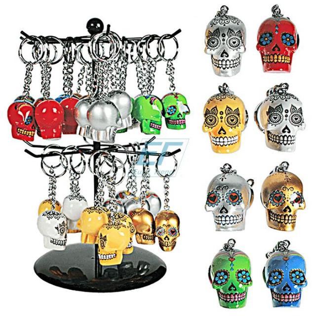 Schlüsselanhänger-Metall Skull