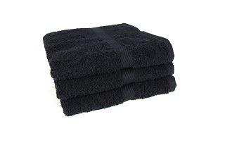 Duschtuch Dusch Bade Handtuch Badetuch 70x140 cm schwarz Aktionsposten Baumwolle