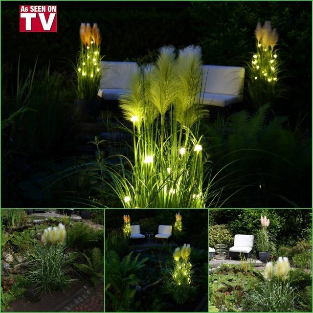Super Angebot !!!! LED-beleuchtetes Pampasgras 140 cm mit 6 Stunden Timer und 350 Stunden Brenndauer