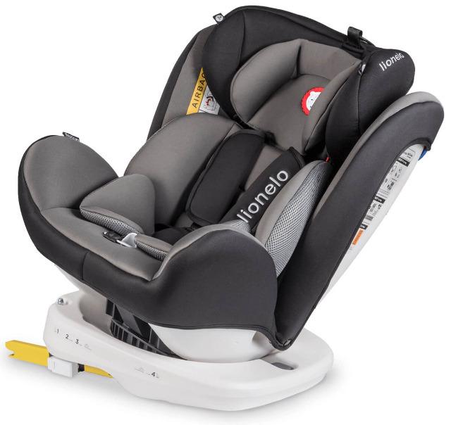 Lionelo Bastiaan Auto Kindersitz mit Isofix in grau Baby Autositz Sicherheit Kopfstütze