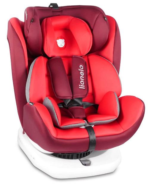 lionelo bastiaan auto kindersitz mit isofix in rot baby. Black Bedroom Furniture Sets. Home Design Ideas