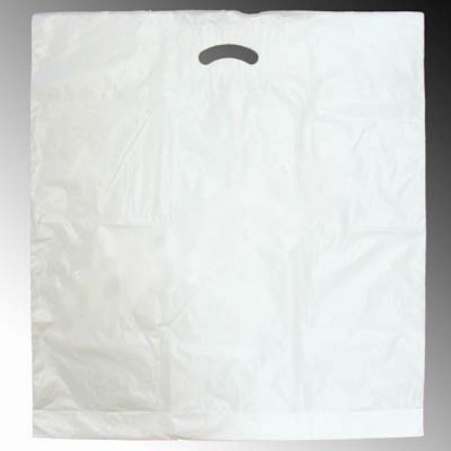12-52455500, JUMBO Tragetasche, weiß 45 x 55 cm, stabil, Plastikbeutel, Einkaufstasche
