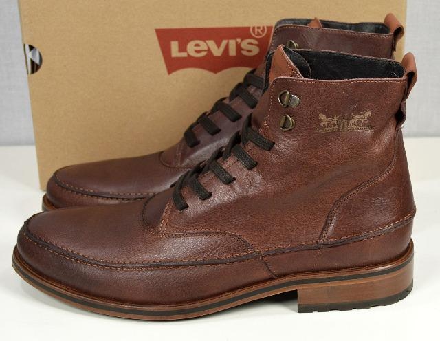 Levis Herren Leder Schuhe Braun Herren Stiefel Schuhe 10121504