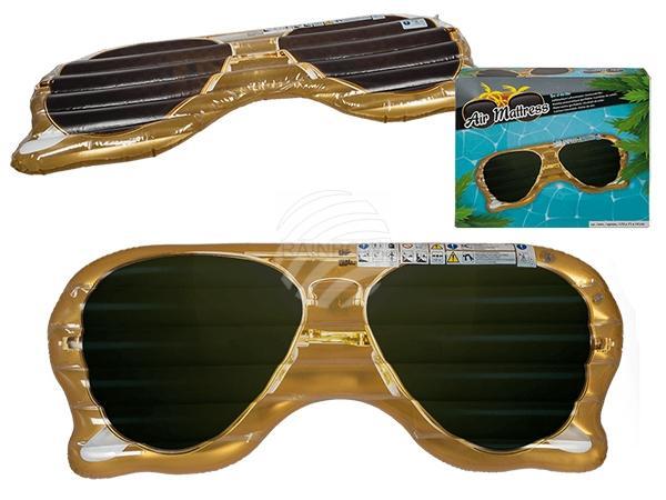 Aufblasbare Luftmatratze, Sonnenbrille