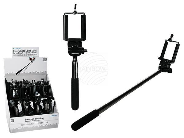 Ausziehbarer Handyhalter, Selfie-Stick, ca. 60 cm
