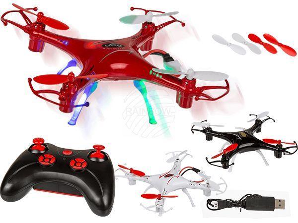 Ferngesteuerter Quadrocopter, Drone, mit 4 LED