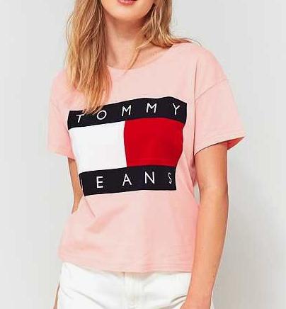 Tommy Hilfiger Jeans Women TJW 90s Flock Cropped Tank Rosa