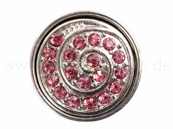 A-ch111 Chunk Button Design: Spirale Farbe: rosa silber