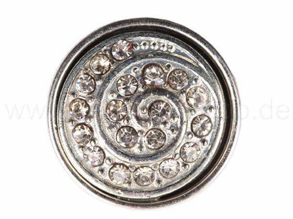 A-ch113 Chunk Button Design: Spirale Farbe: silber klar