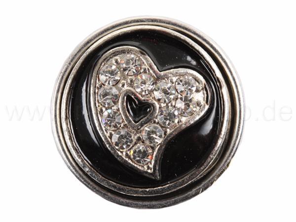 A-ch126 Chunk Button Design: Herz Farbe: schwarz
