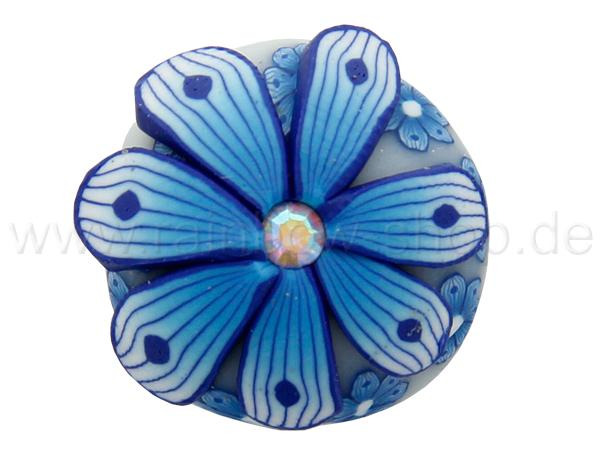 A-ch220 Chunk Button Design: Blume Farbe: blau